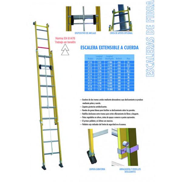 Escalera de fibra extensible de cuerda xtrememarkt - Escaleras de cuerda ...